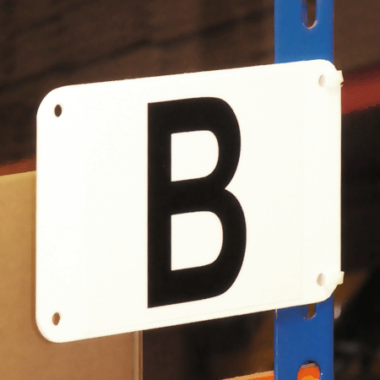 sign to identify bay and aisle