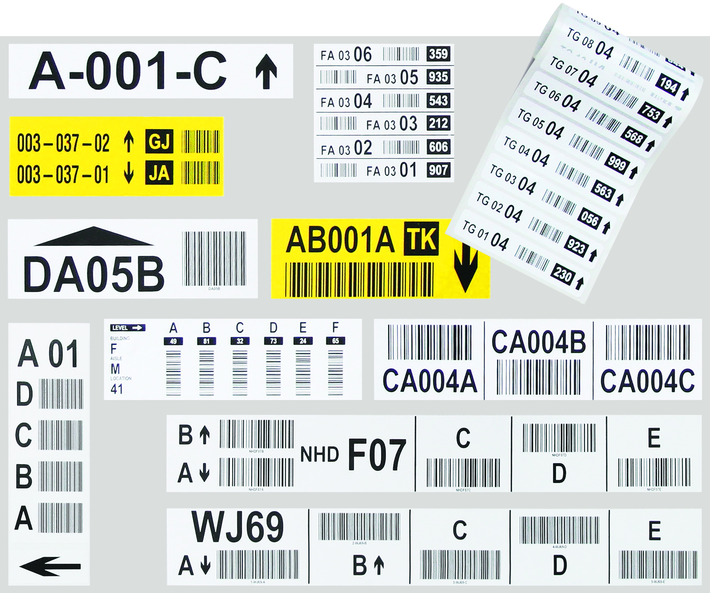 Racking Beam Location Code Labels