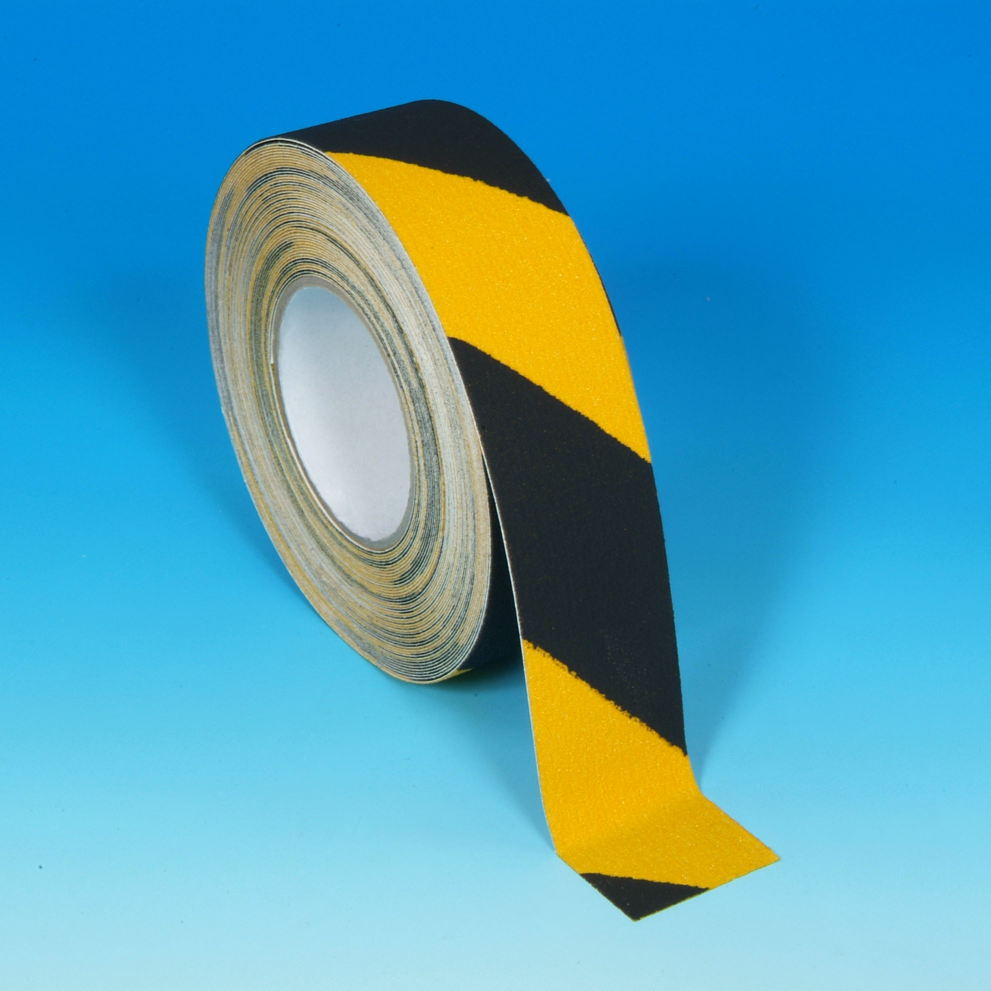 Black yellow hazard safety grip, angle view