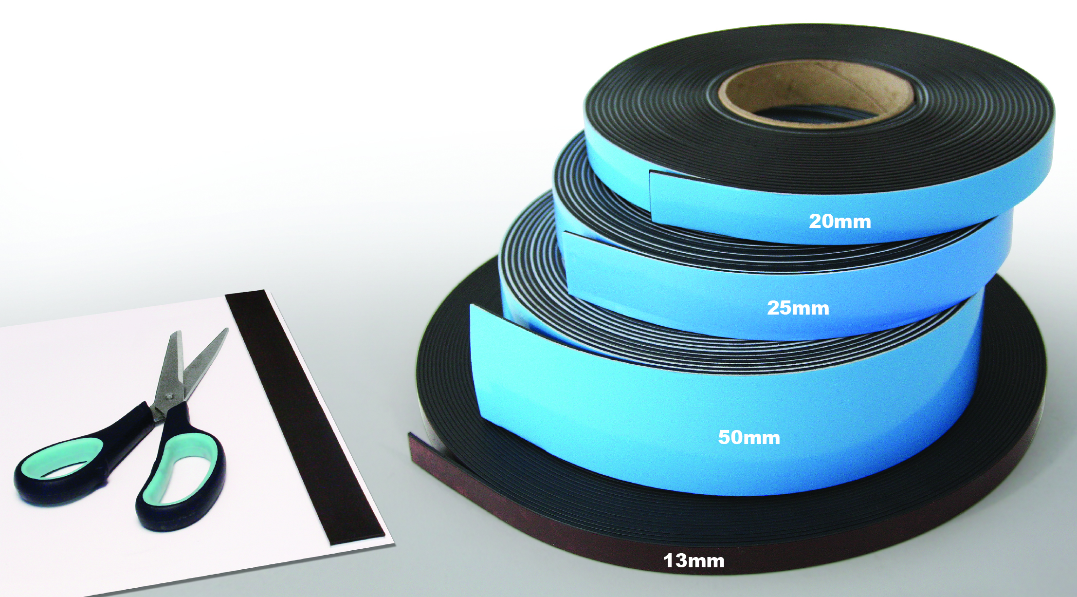 magneti strip tape with adhesive backing