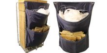 Roller container waste sack