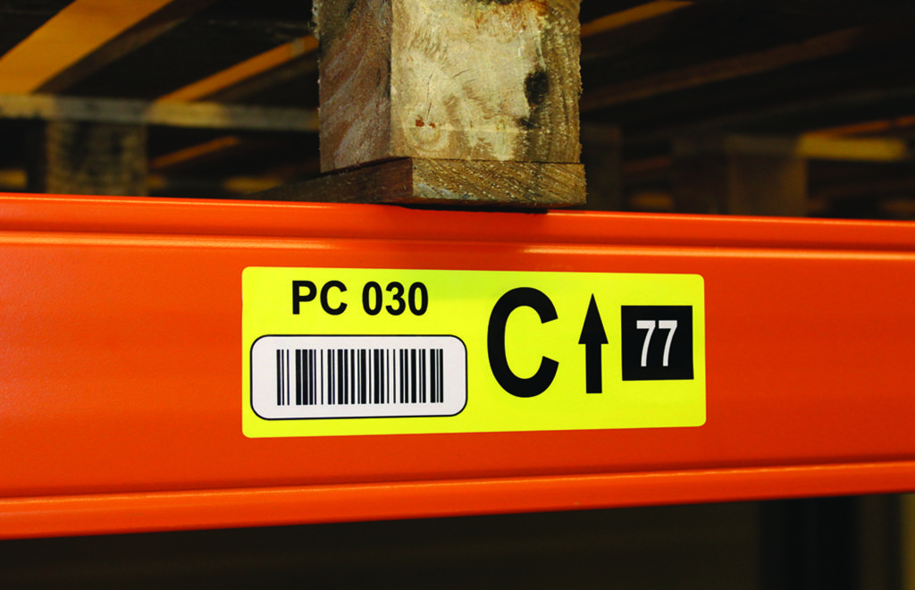 Pallet racking location labelling