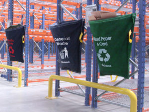 Warehouse waste sacks