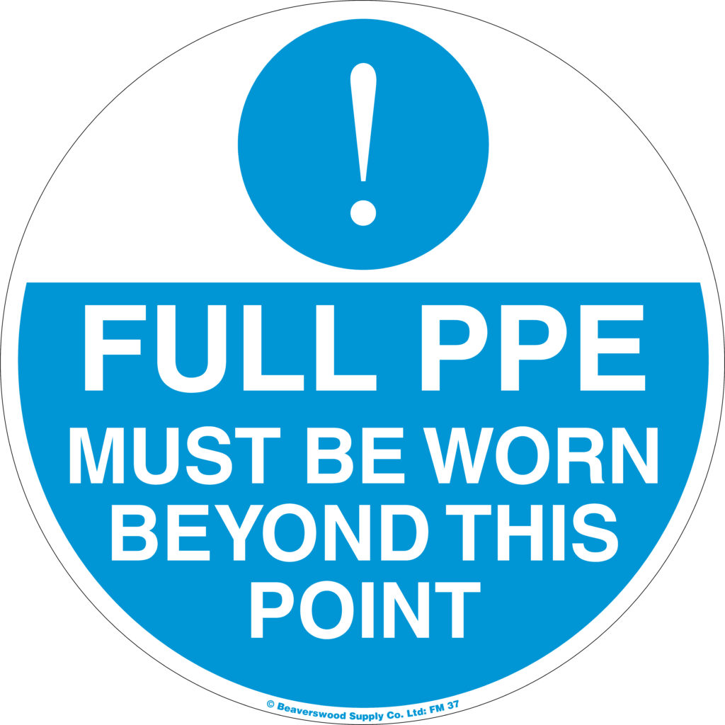 Safety floor signs PPE